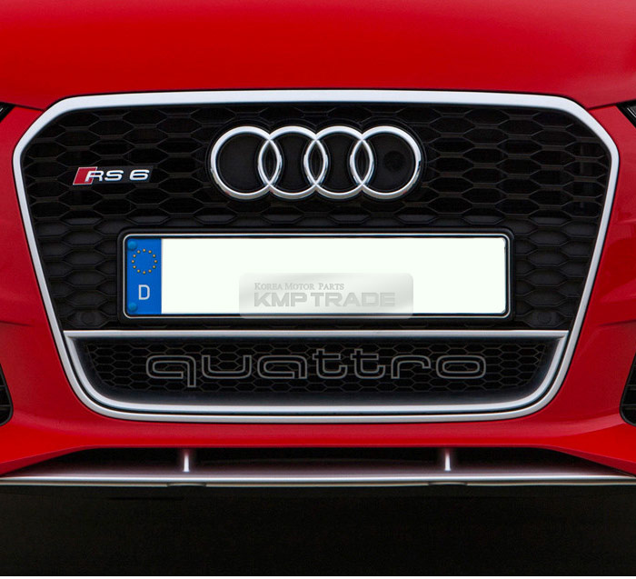 RS Style Quattro World Logo Grille Emblem For Audi A1 A3