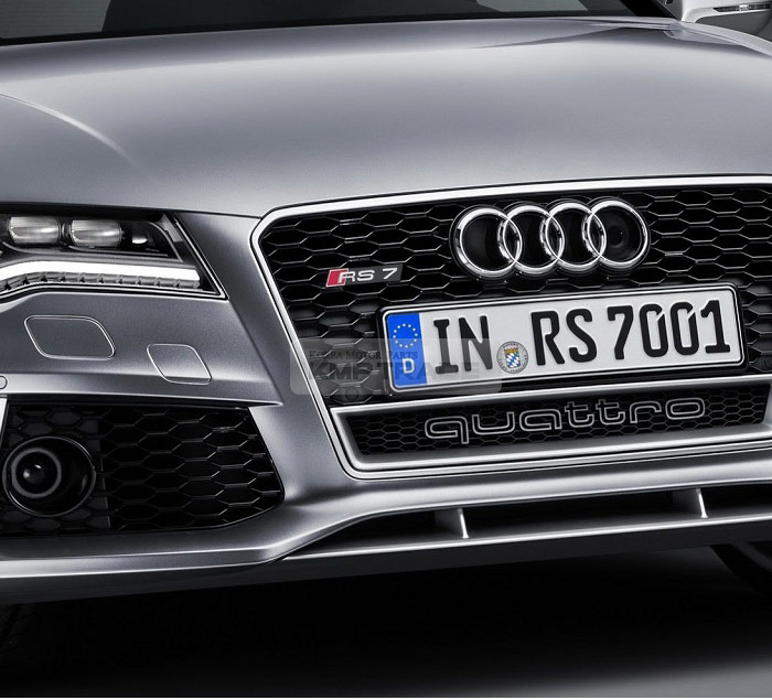 Quattro RS Style World Logo Grille Emblem For Audi A1 A3