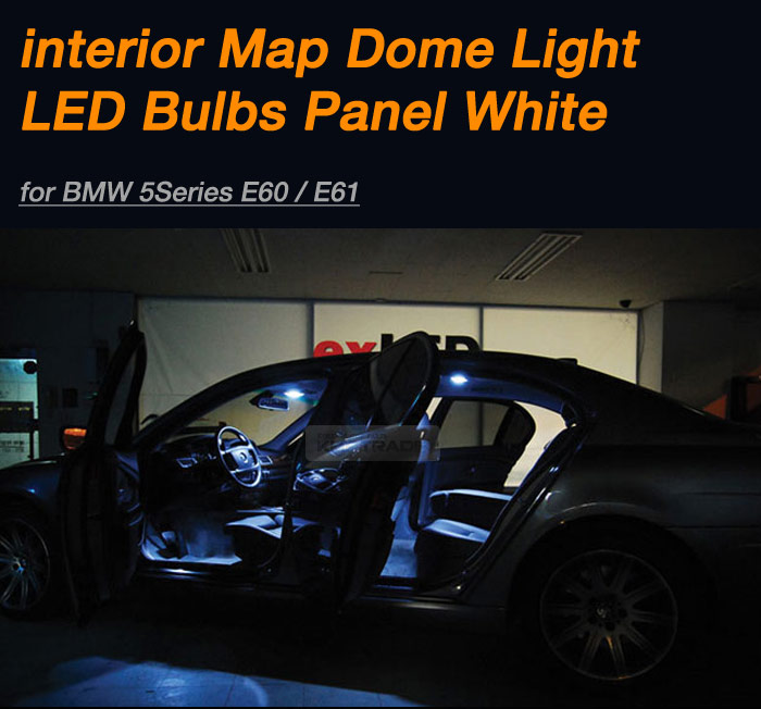 Interior Map Dome Light LED Bulbs Panel White For BMW 2003