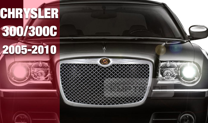 KMP TRADE: LUXURY Sport Mesh Style Chrome Front Hood Grille For 2005