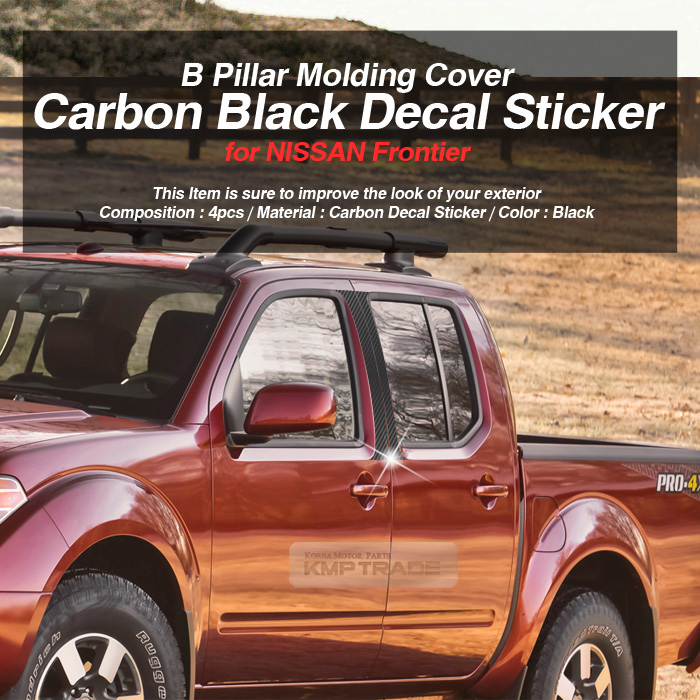 Carbon black b pillar post decal sticker 4p for nissan for 2006 nissan frontier window motor