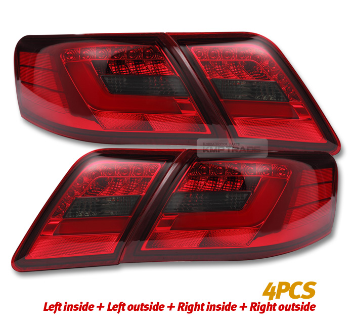 led surface emitting tail light rear lamp 4pcs for toyota 2006 2011 camry ebay. Black Bedroom Furniture Sets. Home Design Ideas