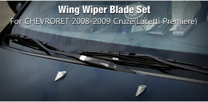 kmp trade wing wiper blade 2pcs set for chevrolet 2008. Black Bedroom Furniture Sets. Home Design Ideas