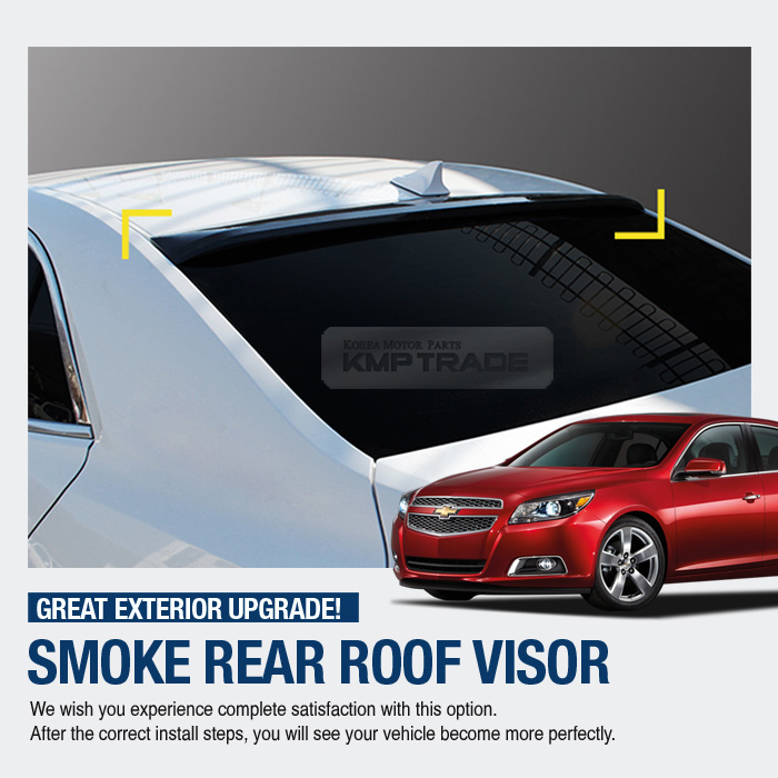 Chevrolet Malibu 2014 For Sale: Smoke Rear Window Roof Lip Spoiler Visor Molding K987 For