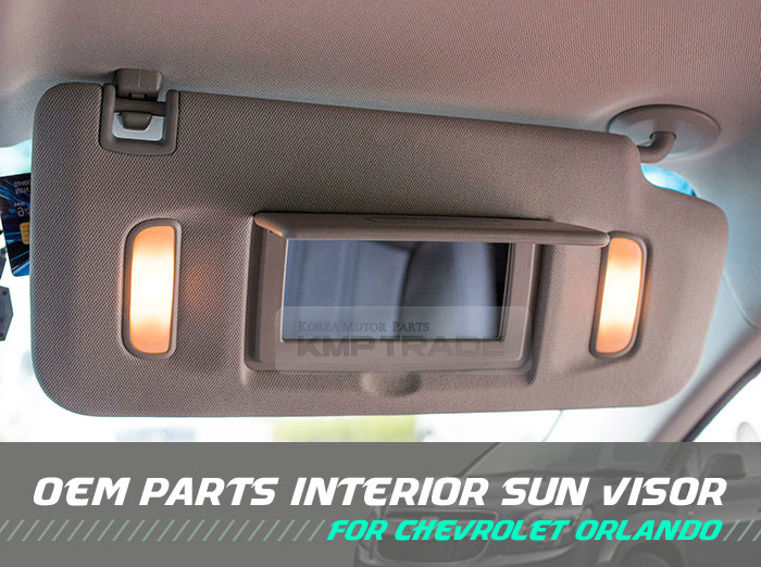 Interior Sun Visor Right Gray 1ea For Chevrolet 2010 2015