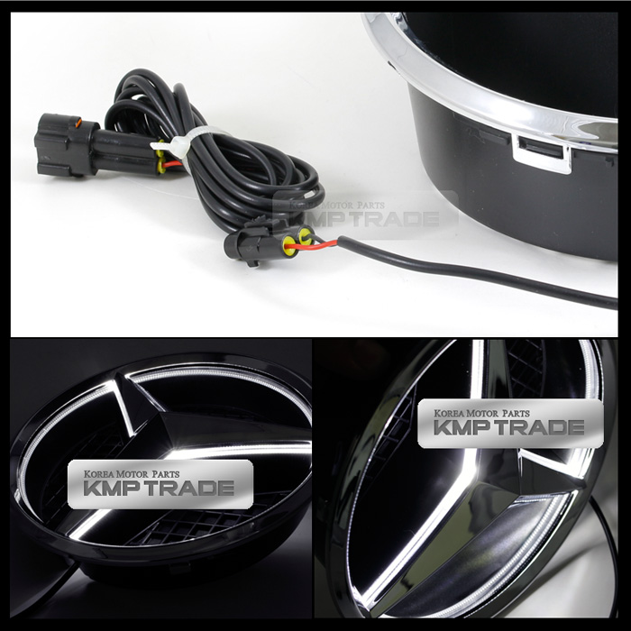 Chrome trim led lighting car accessories truck putco for Mercedes benz symbol light
