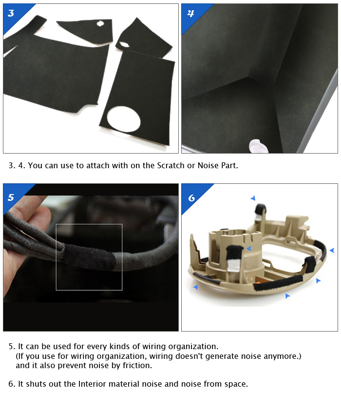 car interior sound proofing noise reduction tape for peugeot ebay. Black Bedroom Furniture Sets. Home Design Ideas