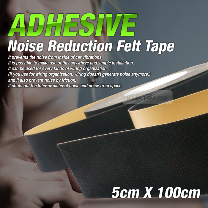 car auto interior adhesive noise reduction felt tape 2inx39in for all vehicle ebay. Black Bedroom Furniture Sets. Home Design Ideas