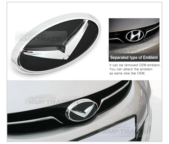 Eagle Emblem Grille+Trunk+Horn+Wheel Badge Logo 7ea for HYUNDAI 2013 Elantra GT