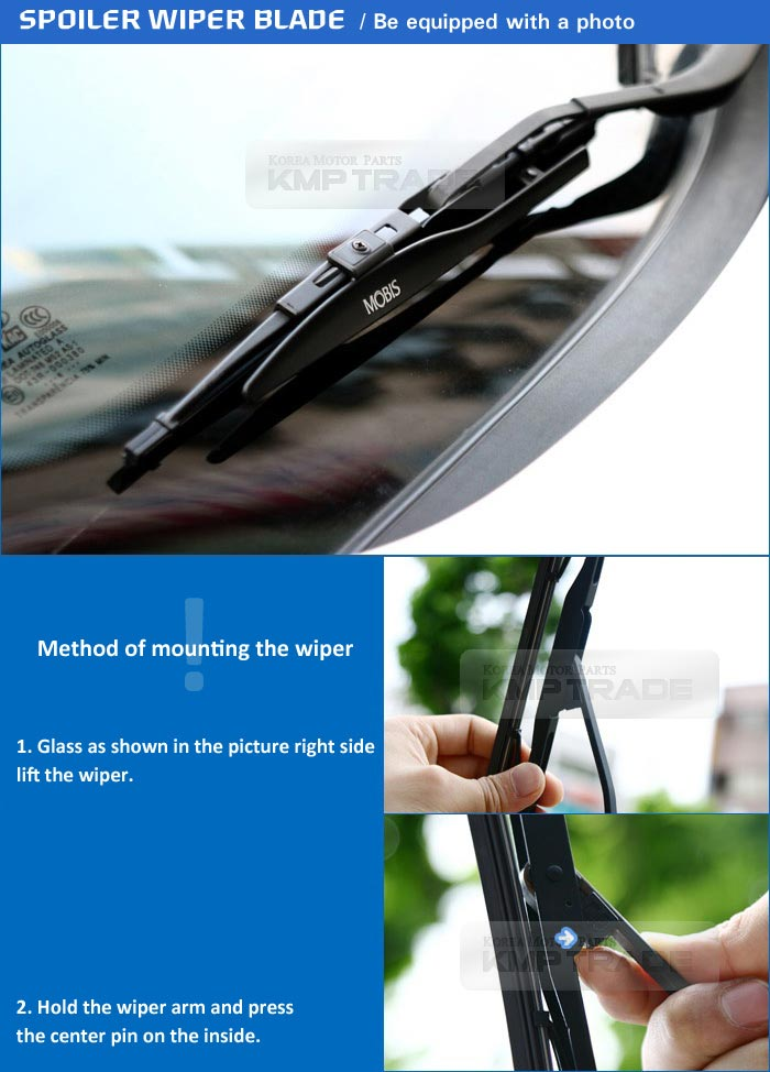 oem wing windshield wiper blades 24inch 18inch for hyundai 2012 2015 veloster. Black Bedroom Furniture Sets. Home Design Ideas