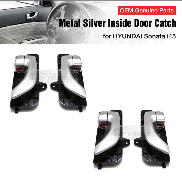 Oem Metal Silver Door Catch Inside Handle Trim For Hyundai