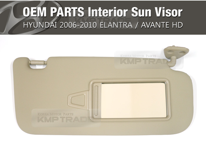 Oem Interior Sun Visor Right Beige 1ea For Hyundai 2006 2010 Elantra Avante Hd