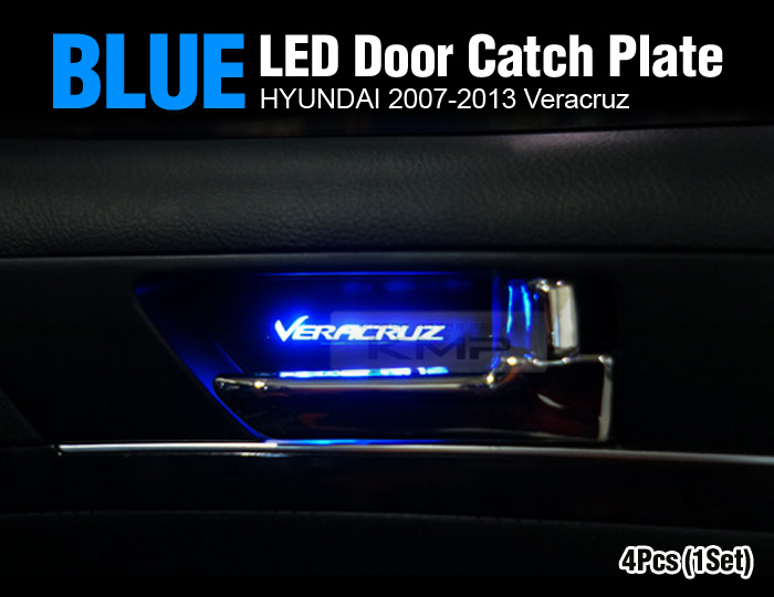 Promotion Blue Led Inner Door Catch Handle Plate 4p For