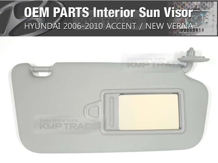 Oem Interior Sun Visor Right Gray 1ea For Hyundai 2006