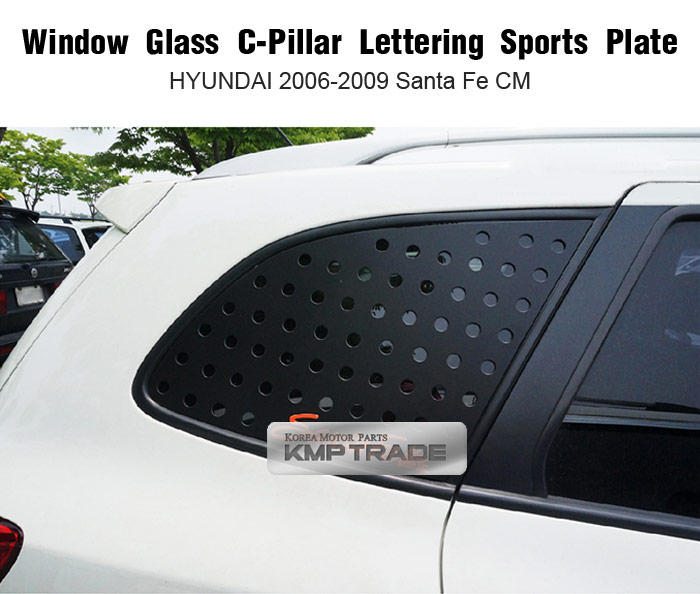 Window C Pillar Lettering Sport Plate Red For Hyundai 2006