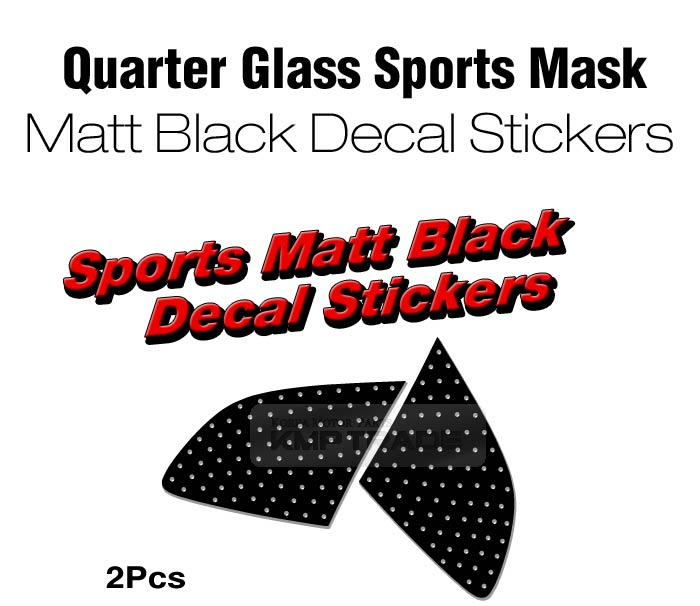 Glass sports mask matt black decal for 2006 2012 hyundai santafe cm