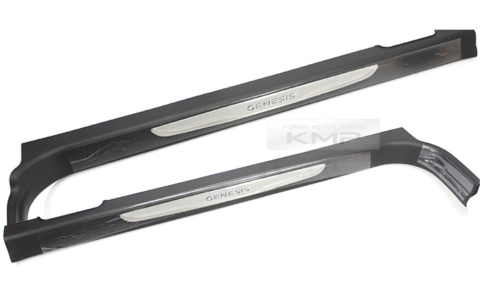 Side led door sill scuff step trim for hyundai 2012 2015 genesis coupe
