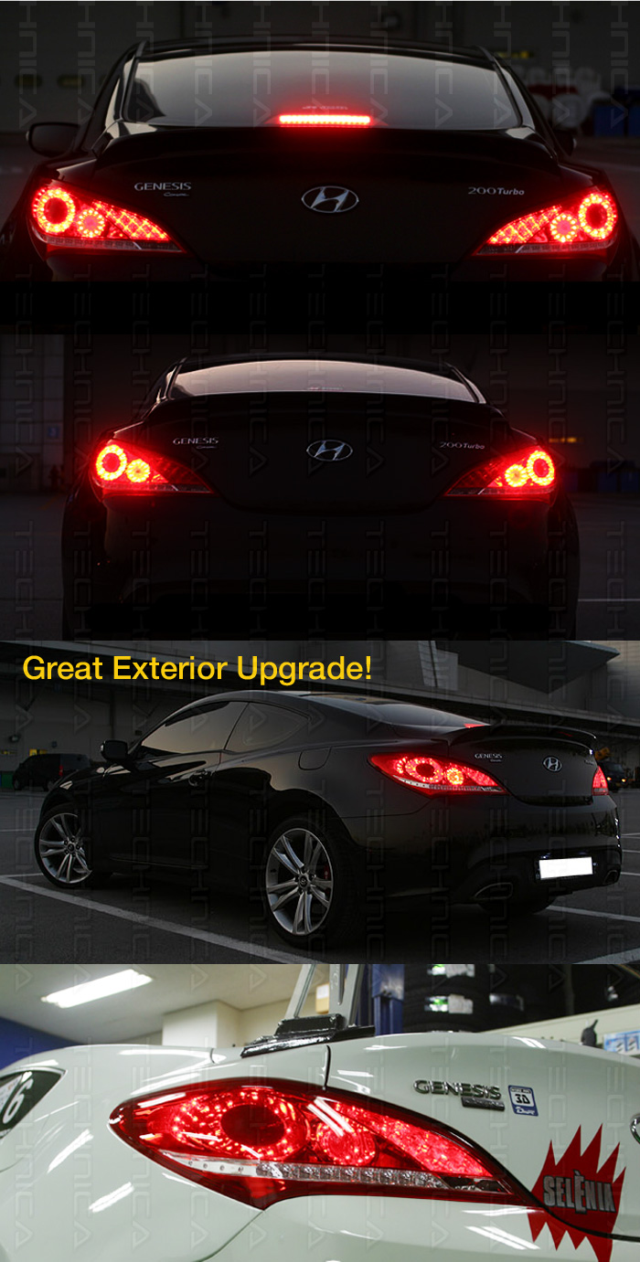 led rear tail light lamp 2pcs replacement for 2010 2015 hyundai genesis coupe ebay. Black Bedroom Furniture Sets. Home Design Ideas