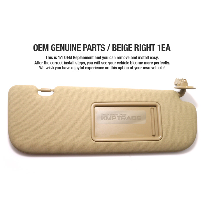 Kmp Trade Oem Interior Hand Sun Visor Shade Rh Beige For