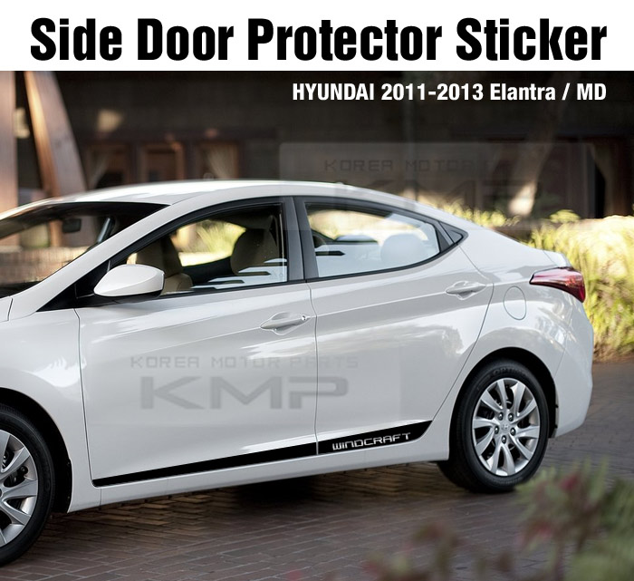 Side Door Protector Decal Sticker Chrome Atype For Hyundai