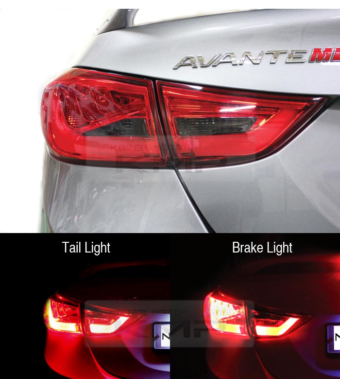 Surface Emission Rear Trunk Tail Light Lamp 4pcs For