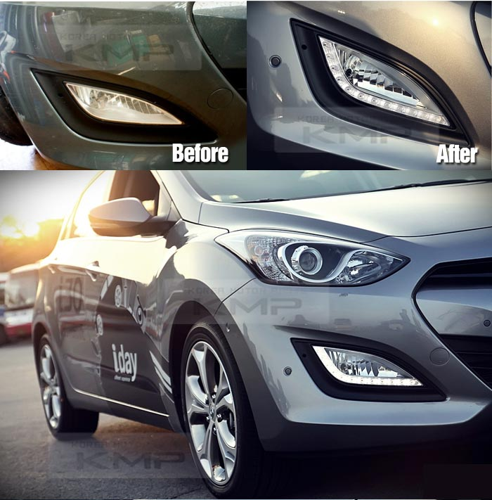 Aftermarket Hyundai Parts: Genuine Parts LED DRL Fog Light Lamp Cover Wire For