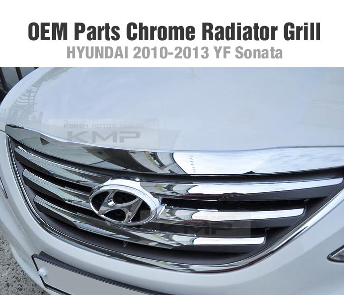 Aftermarket Hyundai Parts: OEM Parts Chrome Front Radiator 2013 Grill For HYUNDAI