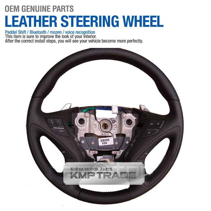 Oem Leather Steering Wheel Handle Bluetooth Paddle For