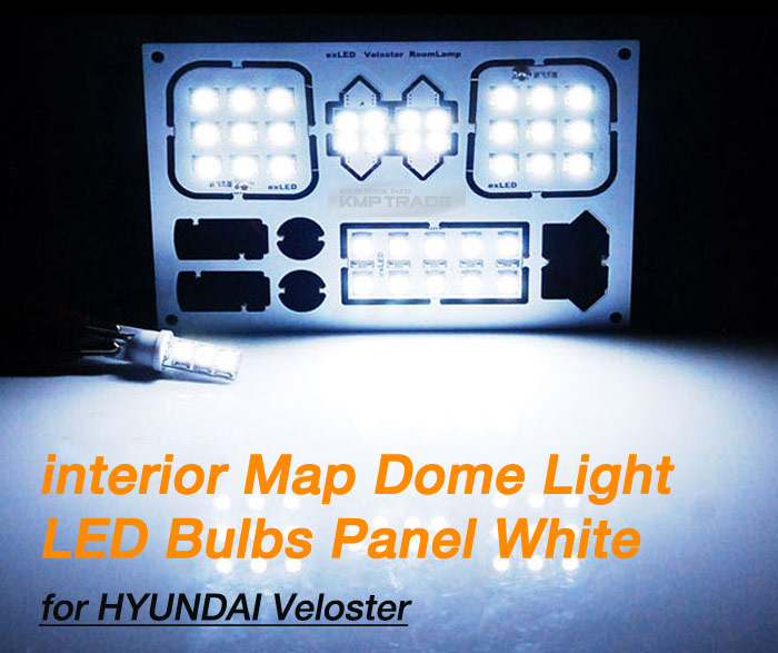 2017 Hyundai Veloster Interior: Interior Map Dome Light LED Bulbs Panel White For HYUNDAI
