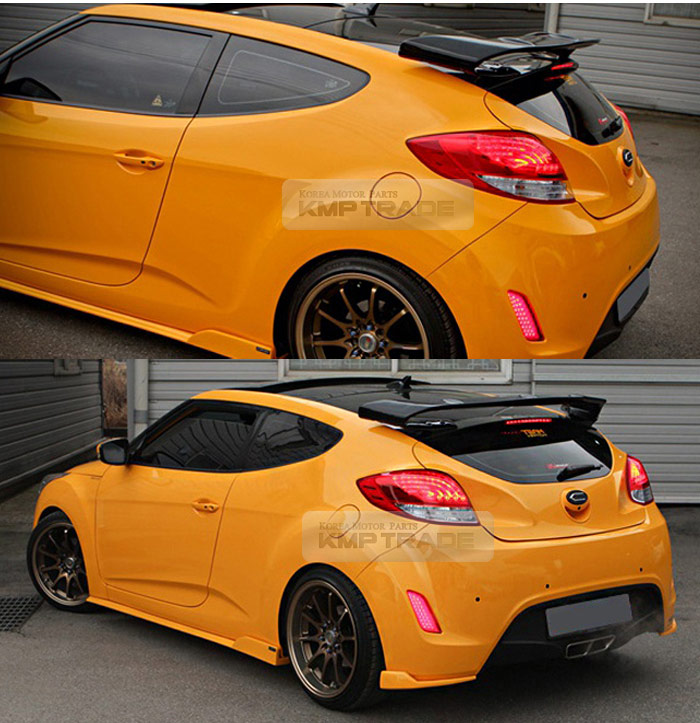 Hyundai Veloster Turbo Used: SPEC-GT Unpainted Rear Roof Wing Spoiler For HYUNDAI 2013