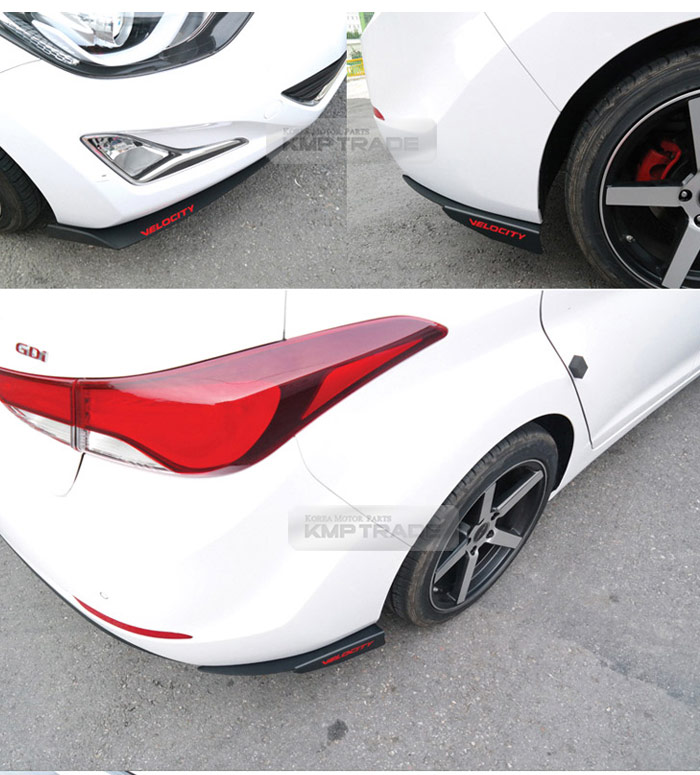 front rear lower bumper matt black spoiler wing for hyundai 2011 2016 elantra md ebay. Black Bedroom Furniture Sets. Home Design Ideas