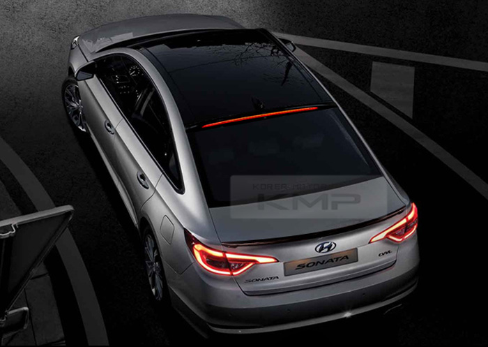 Rear Roof Led Long Surface Emitting Spoiler For Hyundai
