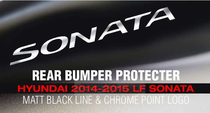 Rear bumper protecter decal sticker for hyundai 2014 2015 lf sonata