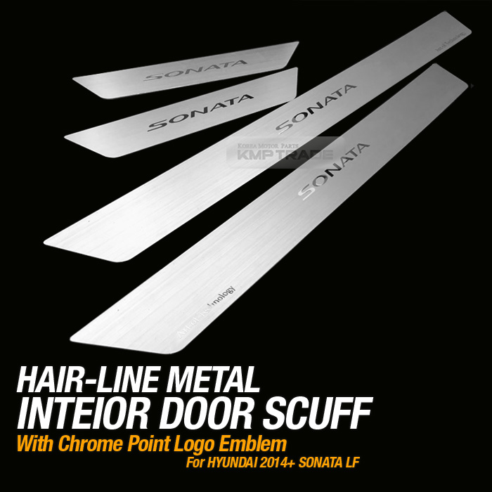 Hairline Metal Aluminum Door Sill Scuff Plate 4Pcs For