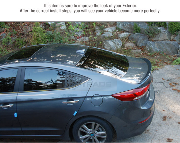 Glass Wing Rear Window Roof Spoiler Garnish Cover For Hyundai 2017 Elantra Ad Ebay