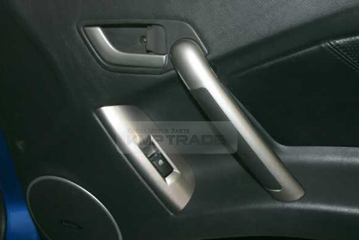 Oem Silver Inside Door Grip Handle Catch Cover For Hyundai 2001 2008 Tiburon Ebay