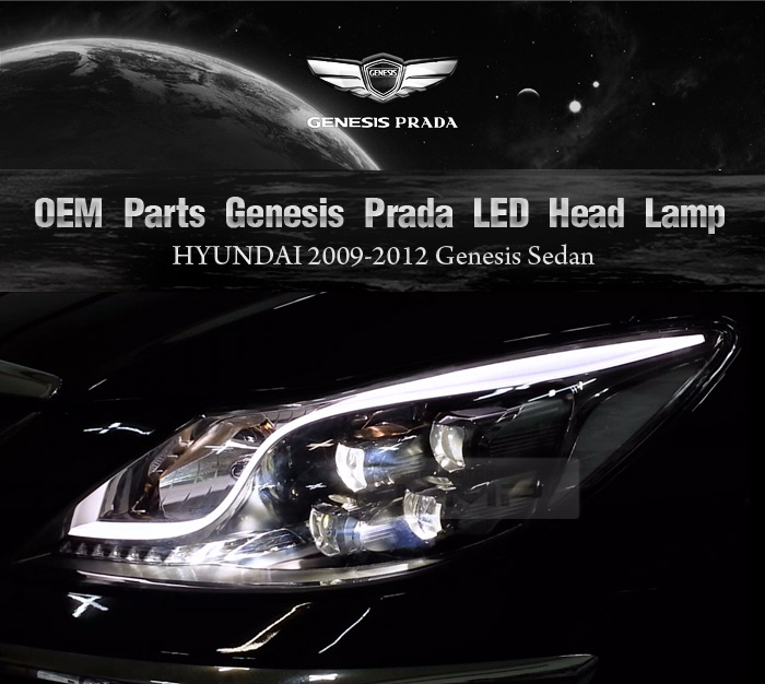 oem genuine genesis prada led head lamp l r 1set for. Black Bedroom Furniture Sets. Home Design Ideas