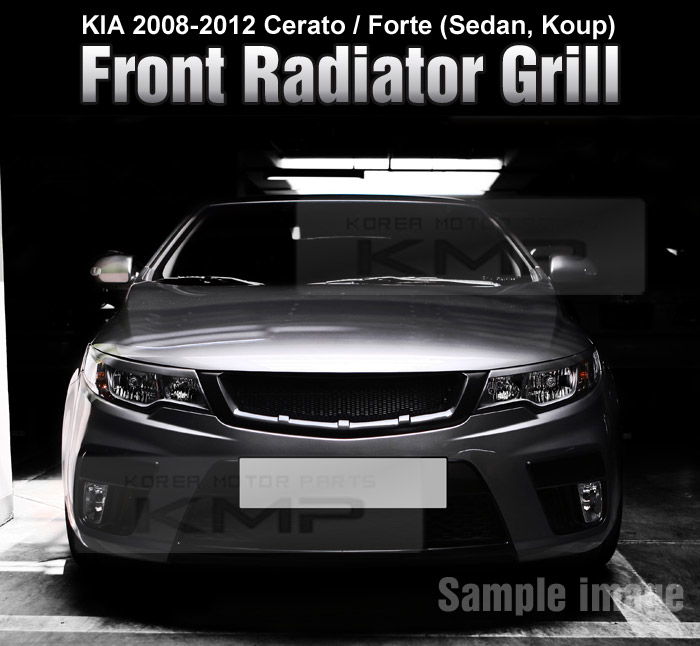 FRONT Hood Radiator Grill Matt Black For KIA 2009 - 2012 ...