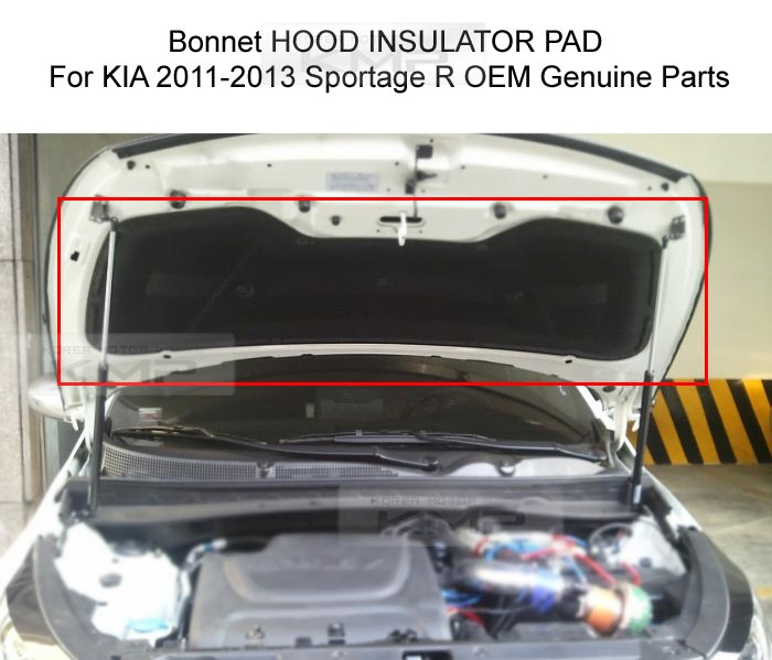 Genuine Parts Bonnet Hood Insulator Pad Cover For Kia 2011