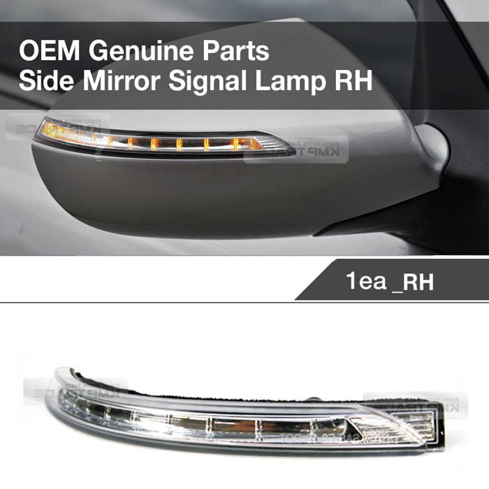 Genuine Parts Right Side Mirror Repeater Signal Lamp For