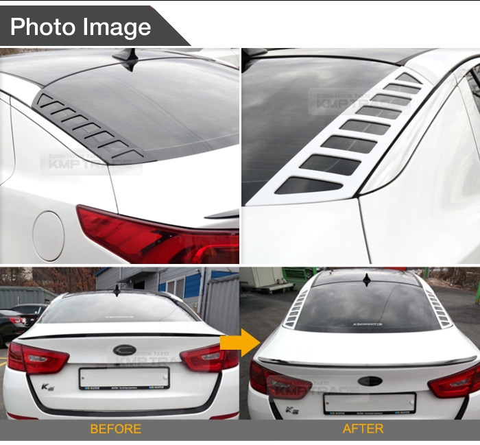 2013 Kia Optima Sx For Sale: Rear Glass Dress Up Plate Painted Snow-White Pearl For KIA