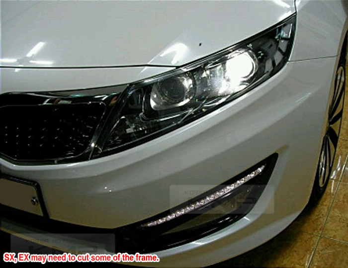 oem led drl daytime running lights fog lamp cover for kia. Black Bedroom Furniture Sets. Home Design Ideas