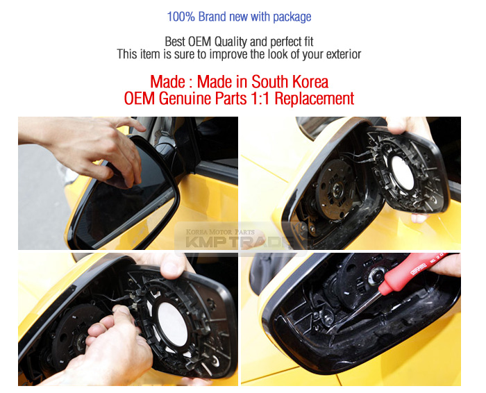 Oem Genuine Parts Side Mirror Cover Molding Lh Rh For Kia