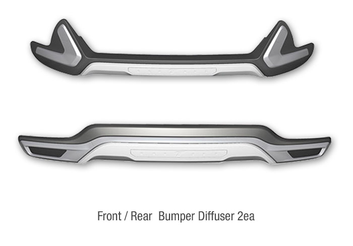 KMP TRADE: Front Rear Bumper Guard Skid Plate Body Kit