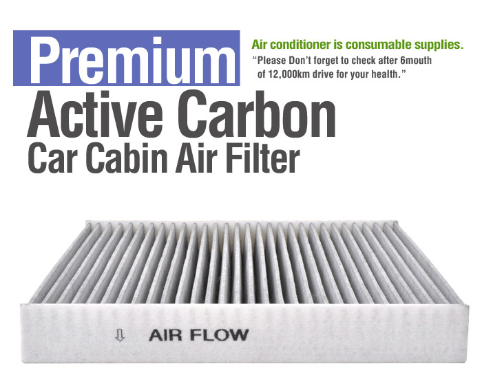 Active carbon air source conditioning cabin filter for for 2015 hyundai sonata cabin filter location