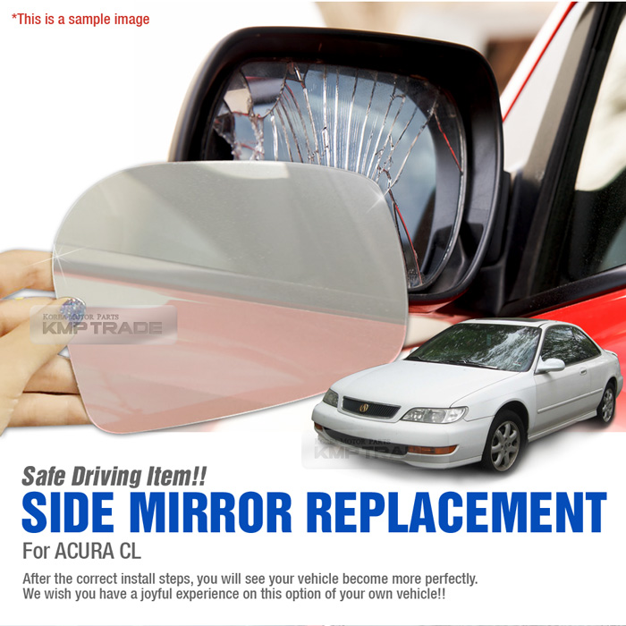 Replacement Side Mirror LH 1P + Adhesive For ACURA 1997