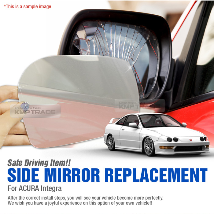 Replacement Side Mirror LH 1P + Adhesive For ACURA 1994