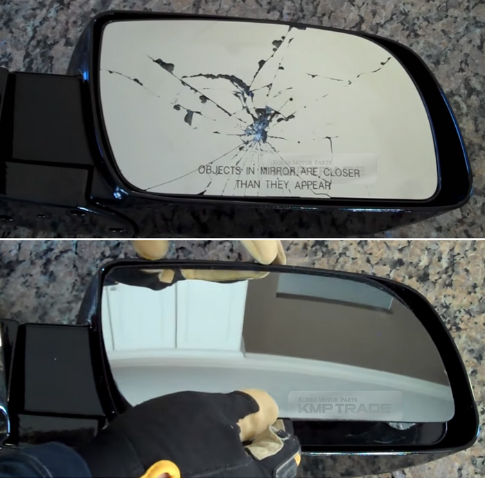 Replacement Side Mirror 2p Adhesive For Hyundai 2007