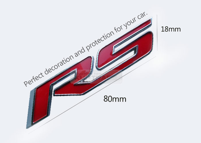 Oem Grill Rs Lettering Emblem Point Logo Badge For