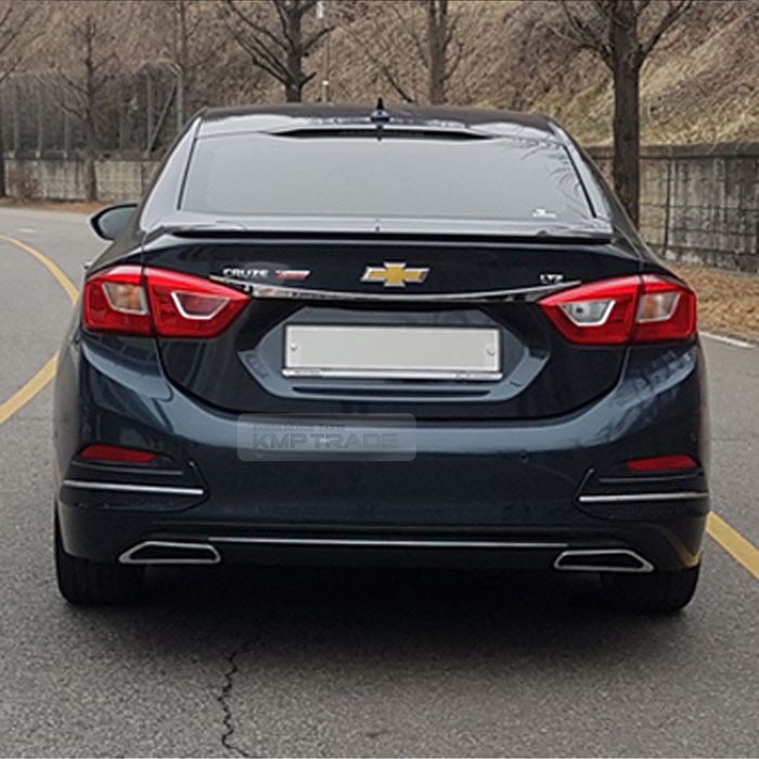 Rear Bumper Diffuser Guard With Chrome Point For Chevrolet 2017 18 All New Cruze Ebay